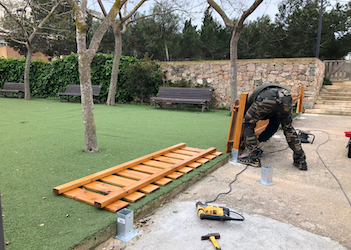 Upgrades at children's play area in Ses Bardetes